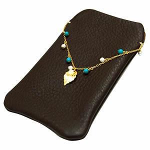 レザーモバイルケース(チェーン付き)【革】【スマートフォン】 [07]|honkeya