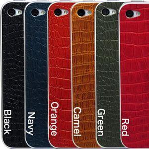 【6色】iPhone 4,4S用貼り革(表裏面2枚セット)【レザー】【シール】【スキン】【スマートフォン】 [07]|honkeya