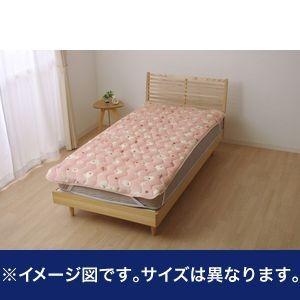 敷きパッド シングル 寝具 ひつじ柄 『ペコラ』 ピンク 約100×205cm【代引不可】 [13] honkeya