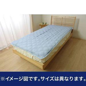 敷きパッド ダブル 洗える なめらか 『モダール 敷パッド』 ブルー 約140×205cm【代引不可】 [13]|honkeya