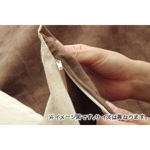 インド綿100% 格子柄 こたつ布団カバー 『クレタ』 ブラウン 約215×215cm[13]