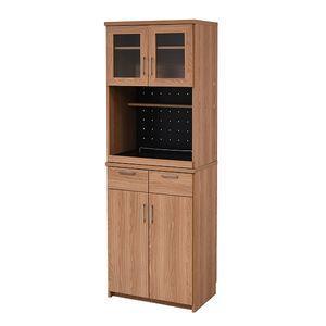 レンジ台 レンジ棚 レンジラック 食器棚 北欧 キッチン収納 スライド棚 付き 幅 60 高さ 180 収納 棚 ラック ガラス扉 おしゃれ[18] honkeya