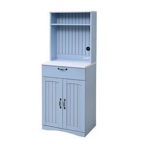 フレンチカントリー 食器棚 カップボード 幅 60 高さ 160 コンセント付き 引き出し 付き 扉付き収納 棚 キッチンボード キッチン収納 姫 木製[18] honkeya