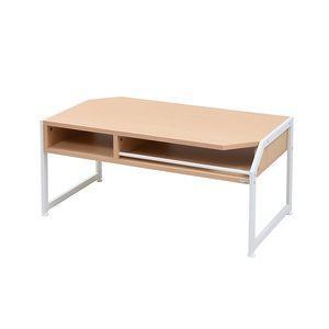テーブル ローテーブル Rita 北欧風センターテーブル 北欧 テイスト おしゃれ 木製 スチール ホワイト ブラック[18] honkeya