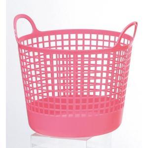 ランドリーバスケット ラウンドバスケット ピンク 【代引不可】 [01]|honkeya