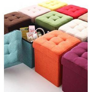 20色から選べる、折りたたみ式収納スツール【TRUNK】トランク 1P [00]の写真