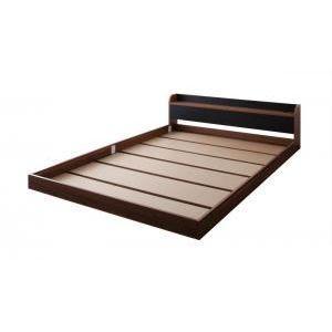 棚・コンセント付きバイカラーデザインフロアベッド DOUBLE-Wood ダブルウッド ベッドフレームのみ シングル[00]|honkeya