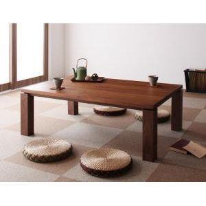 天然木ウォールナット材 和モダンこたつテーブル【STRIGHT】ストライト/長方形(120×80)[L][00]|honkeya