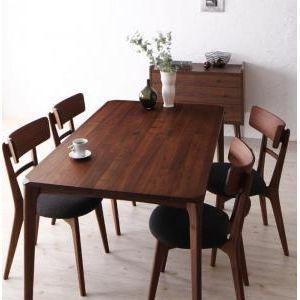 天然木ウォールナット無垢材ダイニング【Kate】ケイト/5点セット[00] honkeya