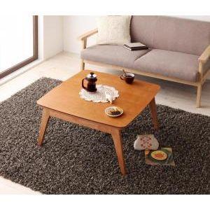 天然木チェリー材 北欧デザインこたつテーブル 【Milkki】ミルッキ/正方形(75×75) [00]|honkeya