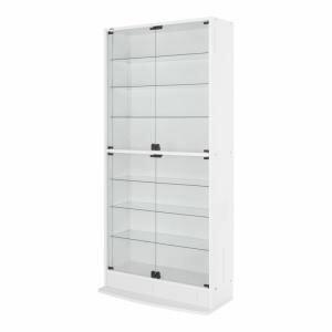 フィギュアを安全に保管 LEDコレクションラック ワイド 本体 両開きタイプ 高さ180 奥行29[4D][00]