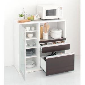 奥行41cmの薄型モダンデザインキッチン収納 Sfida スフィーダ カウンター W100[4D][00]|honkeya