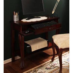 アンティーク調クラシックリビングシリーズ Francoise フランソワーズ パソコンデスク W80[1D][00]