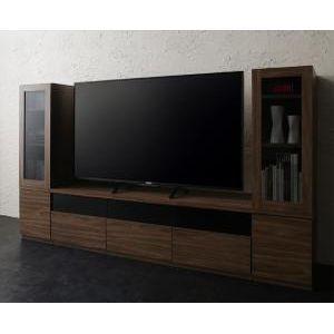 キャビネットが選べるテレビボードシリーズ add9 アドナイン 3点セット(テレビボード+キャビネット×2) ガラス扉 W140[00]|honkeya