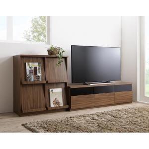 リビングボードが選べるテレビ台シリーズ TV-line テレビライン 2点セット(テレビボード+フラップチェスト) 幅140[L][00] honkeya