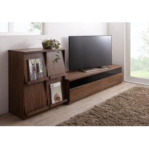 リビングボードが選べるテレビ台シリーズ TV-line テレビライン 2点セット(テレビボード+フラップチェスト) 幅180[L][00] honkeya