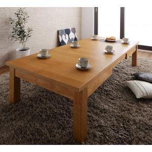 天然木オーク材伸長式こたつテーブル Widen-α ワイデンアルファ 長方形(80×120〜180cm)[00]|honkeya