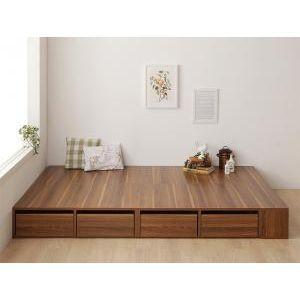 シェルフ棚・引出収納付きベッドとしても使えるフローリング調デザイン小上がり ひだまり シングル[00]|honkeya
