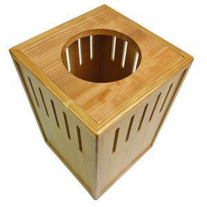 高級日光杉 匠のくず入れ 角スリット H=300【代引不可】 [01]|honkeya