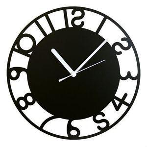 壁掛け時計 鋼の匠 アールデコ 黒【代引不可】 [01]|honkeya