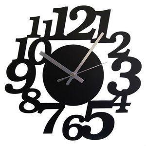壁掛け時計 鋼の匠 イタリティック 黒【代引不可】 [01]|honkeya