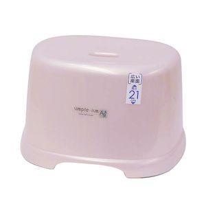 風呂椅子 高さ21cm シンプルイズム 腰かけ パールピンク【代引不可】 [01] honkeya