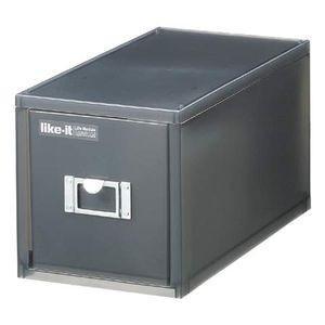 卓上収納 収納ボックス CDケース ライフモジュール ブラック【代引不可】 [01]|honkeya