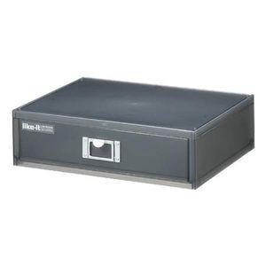 卓上収納 収納ボックス A4ファイルユニット 横型 ライフモジュール ブラック【代引不可】 [01]|honkeya