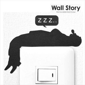ウォールステッカー ウォールストーリー おじさん 昼寝【代引不可】 [01]|honkeya