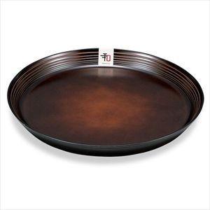 丸皿 和もよう 食器 25cmブラウン【代引不可】 [01]|honkeya