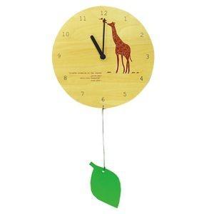 掛け時計 MOBILE CLOCK 葉っぱを食べるキリン YK09-101 【代引不可】 [01] honkeya