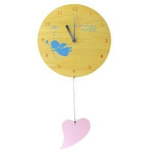 掛け時計 MOBILE CLOCK 幸運を呼ぶ天使とハート YK09-101 【代引不可】 [01] honkeya