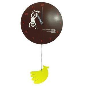 掛け時計 MOBILE CLOCK バナナを食べたいサル YK09-101 【代引不可】 [01] honkeya