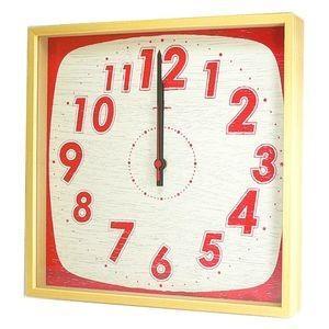 掛け時計 TASTE CLOCK レトロ レッド YK10-101 【代引不可】 [01] honkeya
