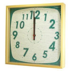 掛け時計 TASTE CLOCK レトロ グリーン YK10-101 【代引不可】 [01] honkeya