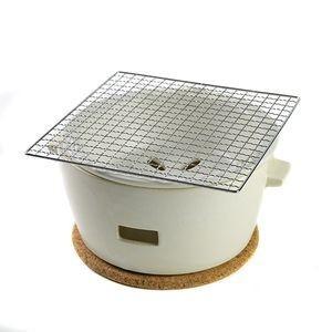 水コンロ ロロ LOLO 炭焼き水コンロ セット 大サイズ 陶器製 白【代引不可】 [01]|honkeya