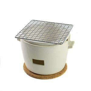 水コンロ ロロ LOLO 炭焼き水コンロ セット 小サイズ 陶器製 白【代引不可】 [01]|honkeya