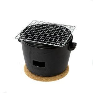 水コンロ ロロ LOLO 炭焼き水コンロ セット 小サイズ 陶器製 黒【代引不可】 [01]|honkeya