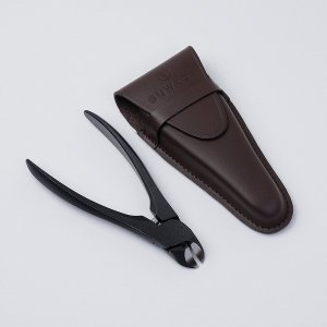 SUWADA スワダ 諏訪田 爪切り つめきり ブラックL革ケース付 高級 日本製 ニッパー型 【母の日】|honmamon