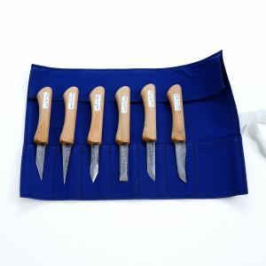 本格 細工用 小刀セット 6本組 木彫り道具 竹細工 切出  工作|honmamon