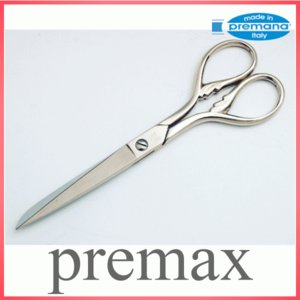 Premax イタリア製 ソーイング 鋏 シルバー 羽模様 プレマックス|honmamon
