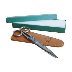 Premax イタリア製 ソーイング鋏  アラベスク 専用革ケース 箱付 手芸ばさみ プレマックス