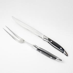 カービングナイフ ミートフォーク セット 黒柄|honmamon