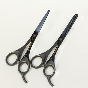 創業祭 10%OFF シルキー 散髪用 カット鋏 & スキバサミ セット ハサミ はさみ 家庭用|honmamon