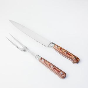 カービングナイフ ミートフォーク セット 合板柄【父の日】|honmamon