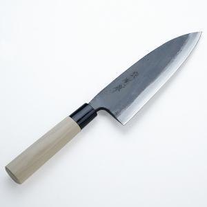 出刃包丁 土佐火造り鍛造 両刃 黒打 出刃 180mm 普及品|honmamon