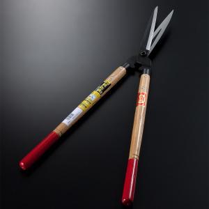 刈込鋏 花隈川 180mm 全鋼 赤柄 170mm 剪定 庭木 刈り込みバサミ ばさみ ハサミ はさみ|honmamon