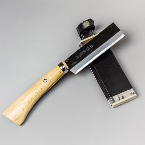 鉈 ナタ 火造り鉈 極上 青紙鋼 竹割り鉈 120mm 竹割鉈|honmamon