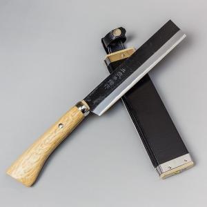 鉈 ナタ 火造り鉈 極上 青紙鋼 竹割り鉈 180mm 竹割鉈 honmamon