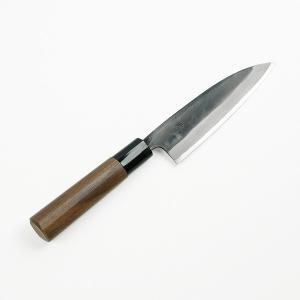 土佐打刃物 サバキ包丁 元兼 極上 青紙鋼 鍛造 黒打 両刃 135mm 捌き|honmamon
